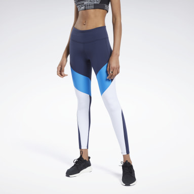 Calzas Lux Colorblock Azul Mujer Fitness & Training