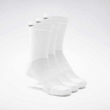 Chaussettes mi-montantes Active Foundation - 3 paires Blanc Fitness & Training