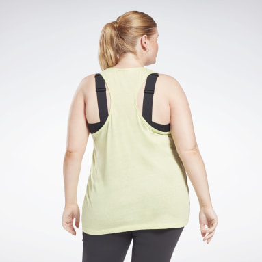 Women Training Yellow Reebok Identity Tank Top (Plus Size)