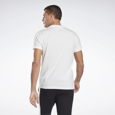 Men Fitness & Training White Reebok Identity T-Shirt