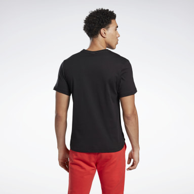 Men Training Black Graphic Series Reebok Stacked Tee