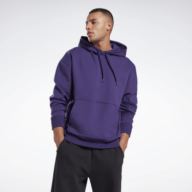 Men Training Purple DreamBlend Cotton Hoodie