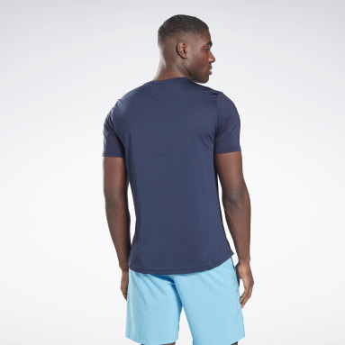 Men Fitness & Training Blue Activchill Move T-Shirt