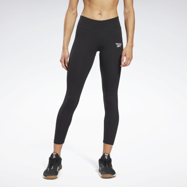 Leggings Reebok Identity Nero Donna Fitness & Training