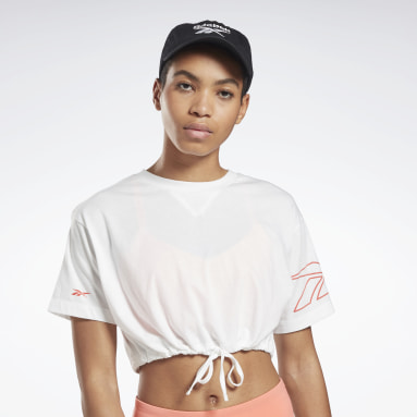 Women Dance White MYT Cropped T-Shirt