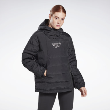 Women Hiking Black Outerwear Light Down Retro Jacket