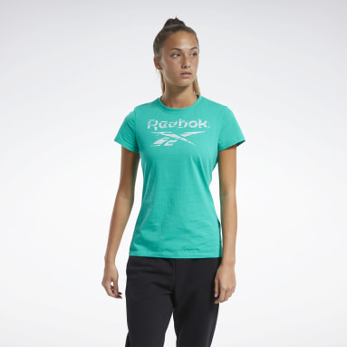 Women Fitness & Training Training Essentials Stacked Logo Tee