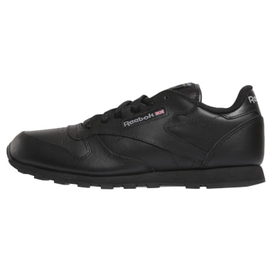 Boys Classics Black Classic Leather Shoes