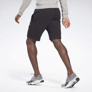 Men Training Black Reebok Identity Shorts
