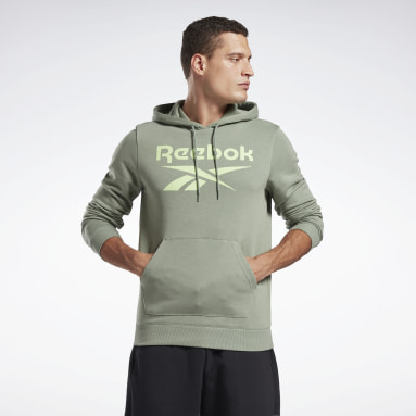 Men Fitness & Training Green Reebok Identity Big Logo Hoodie