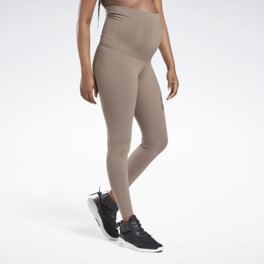 Women Studio Grey Reebok Lux Maternity Tights 2.0