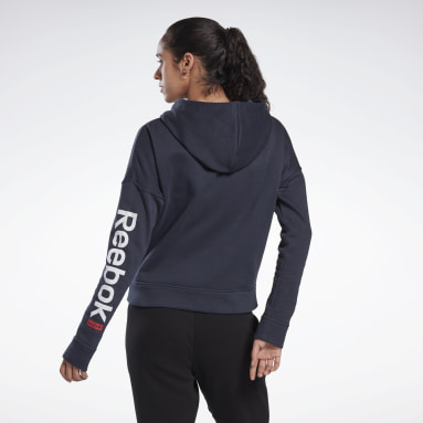 Kvinder Fitness & Training Blue Linear Logo Sweatshirt