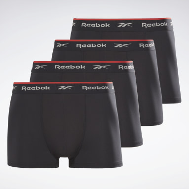 Men Fitness & Training Black Reebok Sports Trunks Redgrave