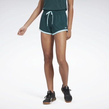 Women Training Green Workout Ready Shorts