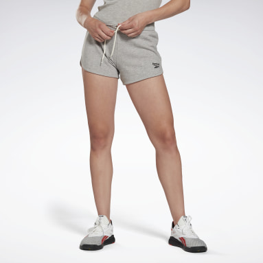 Frauen Fitness & Training Reebok Identity French Terry Shorts Grau