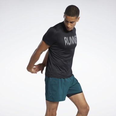 Men Running Black Run Essentials Graphic T-Shirt