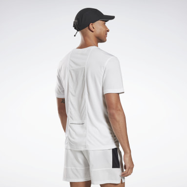 T-shirt Running Essentials Blanc Hommes Running