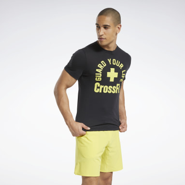 Men Cross Training Black CrossFit® Guard Your Life Tee