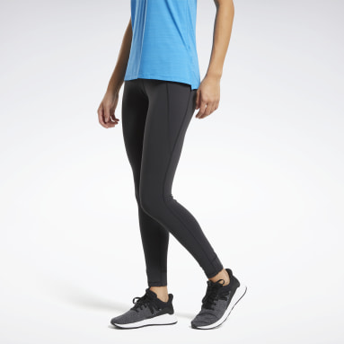 Women Studio Black Reebok Lux High-Rise Tights 2.0