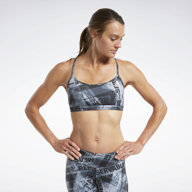 Frauen Cross Training RC Skinny Bra AOP Schwarz