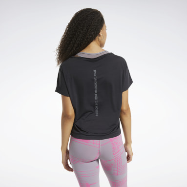 Women Hiking Black ACTIVCHILL Boxy Tee