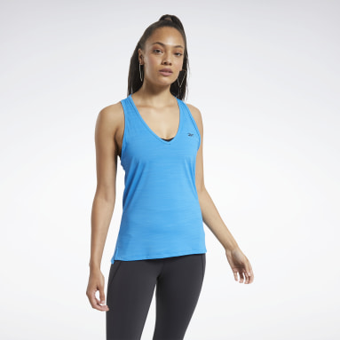 Women Training Blue ACTIVCHILL Athletic Tank Top