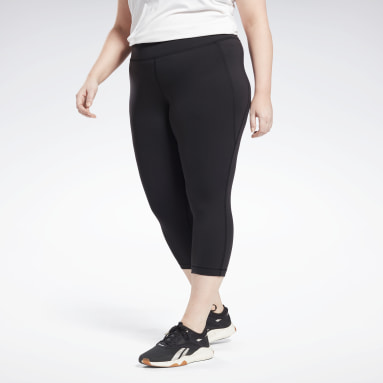 Dames Studio Zwart Lux 3/4 Legging (Plus Size)
