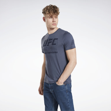 Heren Fitness & Training Blauw UFC Logo T-shirt