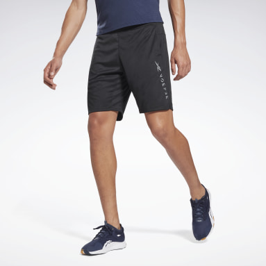 Men Pilates Black Knit Shorts