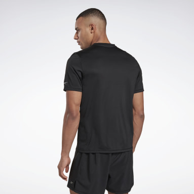 Men Trail Running Black Run Essentials Run Fast Tee