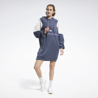 Women Classics Blue Classics Winter Escape Hooded Dress