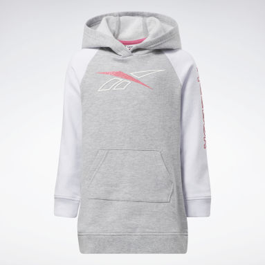 Girls Fitness & Training Grey Reebok Classic Hoodie Dress