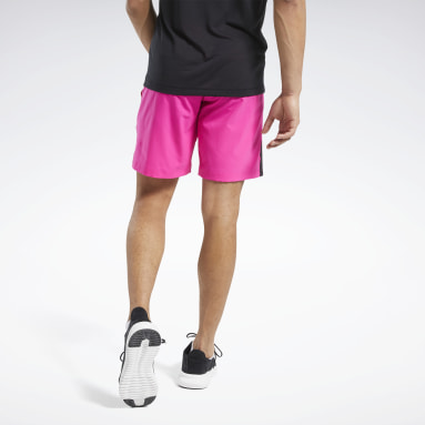 Men Training Pink Workout Ready Shorts