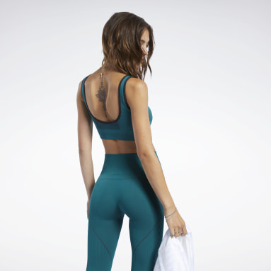 Women Yoga Turquoise Meet You There Low-Impact Bra