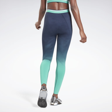 Leggings United By Fitness Seamless High Rise Azul Mujer Deporte