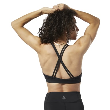 Women Training Black Reebok Hero Strappy Medium-Impact Bra
