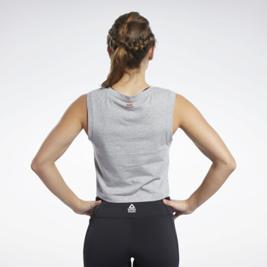 Women CrossFit Grey Reebok CrossFit® Crop Top