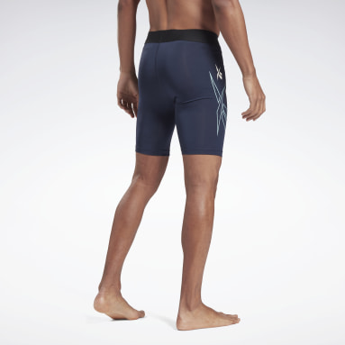 Men Cycling Blue MYT Compression Shorts