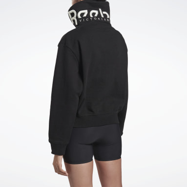 Buzo VICTORIA BECKHAM Cropped Cowl Negro Mujer Fitness & Training