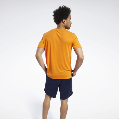 Camiseta Workout Ready Supremium Graphic Naranja Hombre Ciclismo