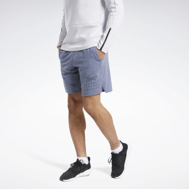 Men Training Blue ACTIVCHILL+COTTON Shorts