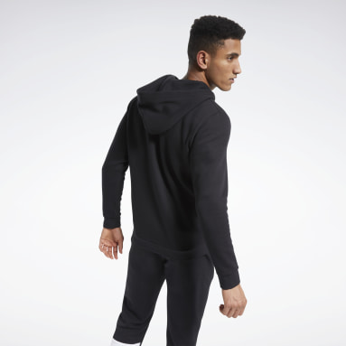 Men Fitness & Training Black Training Essentials Fleece Zip Up Hoodie