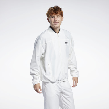 Men Classics White Classics Back Vector Track Jacket