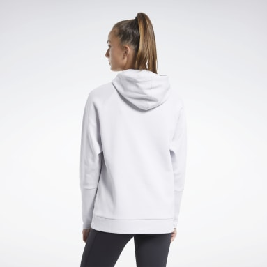 Sweat à capuche Vector Quik Cotton Blanc Femmes City Outdoor