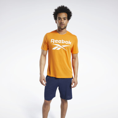 Mænd Cycling Orange Workout Ready Supremium Graphic Tee
