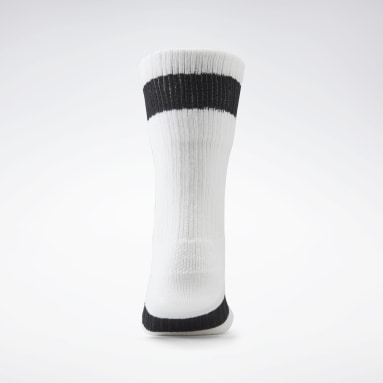 Women Classics White VB Folded Socks