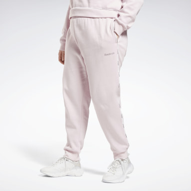 Women Training Pink Piping Joggers (Plus Size)