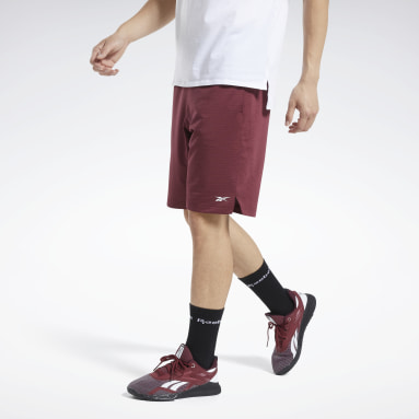 Men Training Burgundy Workout Ready Shorts