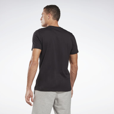 Men Fitness & Training Black Reebok Identity T-Shirt