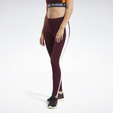 Legging Training Essentials Linear Logo Borgonha Mulher Fitness & Training